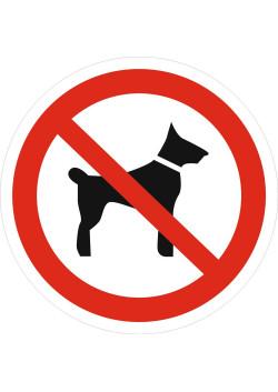 """Знак """"Запрещается вход (проход) с животными"""" P-14"""