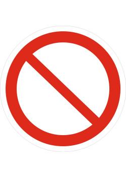 """Знак """"Запрещение (прочие опасности или опасные действия)"""" P-21"""