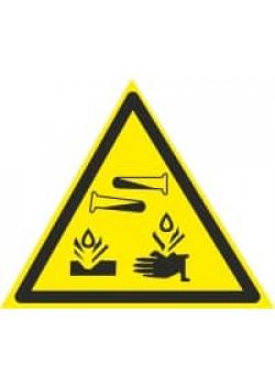 """Знак """"Едкие коррозионные вещества"""" W-04"""