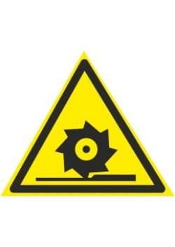 """Знак """"Осторожно режущий диск"""" W-22"""