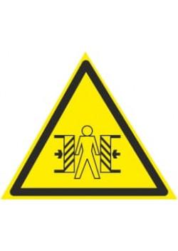 """Знак """"Опасность зажима"""" W-23"""