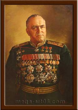 Портрет полководец Жуков Г.К. ПТ-50-2