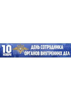 Баннер на День сотрудника органов внутренних дел Российской Федерации БГ-3