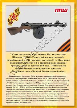 """Постер ППШ из серии """"Оружие Победы"""" ПЛ-16"""