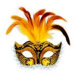 Карнавальные маски из перьев