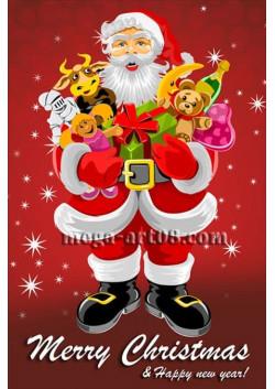 Плакат к Новому году и Рождеству Христову  ПЛ-2