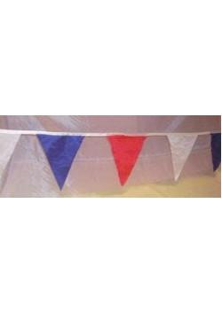 Флажная лента треугольники-триколор