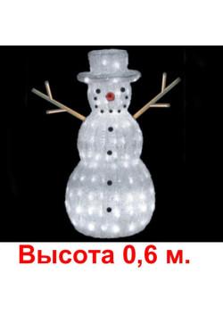 """Объемная световая фигура """"Снеговик"""" h06"""