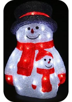 """Объемная световая фигура """"Снеговик со снеговичком"""" 40 см"""