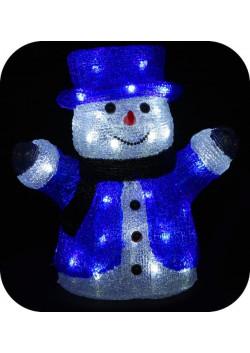 """Объемная световая фигура """"Снеговик в цилиндре"""" 30 см"""