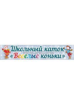 Баннер школьный каток БГ-119