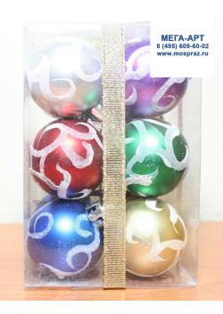 Елочные шары d-4 ассорти