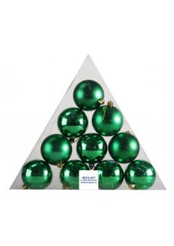 Елочный набор шаров d-7 зеленые пирамида