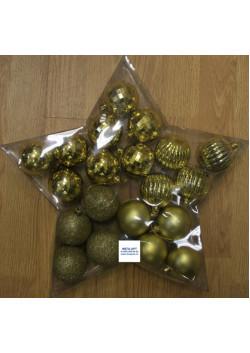 Елочный набор шаров d-6 золотой