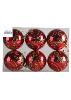 Елочный набор шаров d-8 красные
