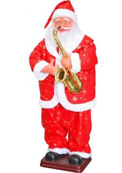 Танцующий музыкальный Санта Клаус с саксофоном 130, 160, 180 см