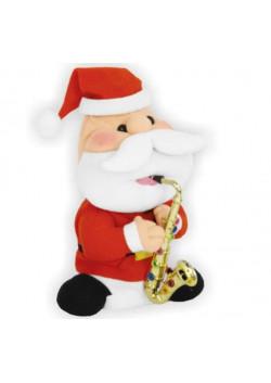 """Музыкальная фигура """"Санта с саксофоном малый"""" 20 см"""