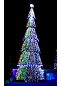 Новогодняя led елка Императорская пленка