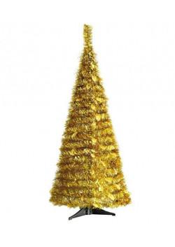 Елка складная из мишуры золотая