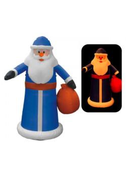"""Надувная новогодняя фигура """"Дед Мороз в синей шубе"""" 1,8 м"""