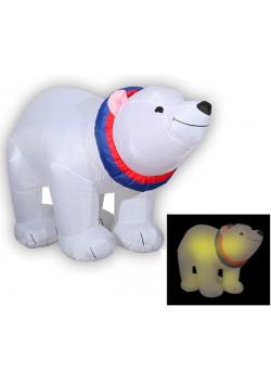 """Надувная новогодняя фигура """"Медведь-полярник"""" 1,2 м"""