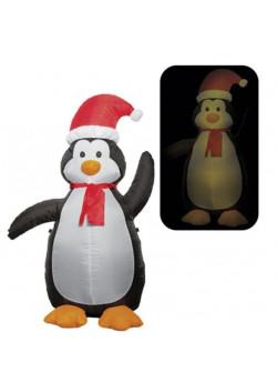 Надувная новогодняя фигура «Пингвин новогодний» 1.2 м