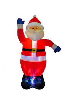 """Надувная новогодняя фигура """"Санта Клаус с разноцветной подставкой"""" 1,8 м"""