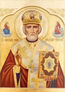 Постер Святая икона Николай Чудотворец ПТ-322