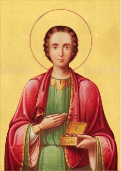 Постер Святая икона Великомученик Пантелеимон ПТ-324