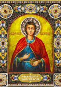 Постер Святая икона Великомученик Пантелеимон ПТ-325