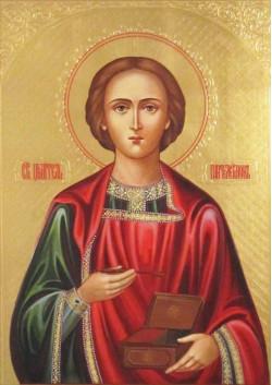 Постер Святая икона Великомученик Пантелеимон ПТ-326