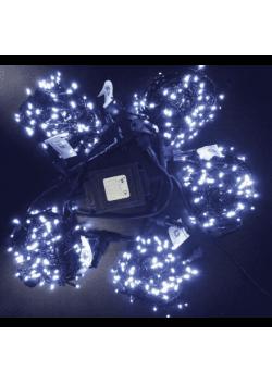 Светодиодная гирлянда Клип Лайт 5 лучей по 10м с мерцанием 500LED 24V
