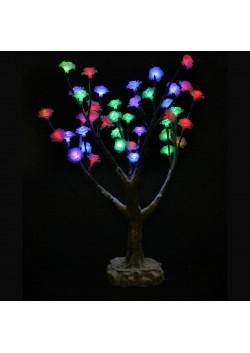 """LED-Дерево """"Цветы заснеженные"""" переливающиеся, высота 50см"""