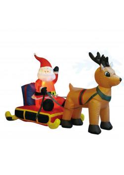"""Надувная фигура """"Санта на санях"""", высота 90 см, длина 150 см"""