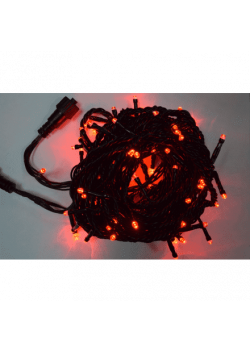 Светодиодная гирлянда 100LED черный провод СГ-28