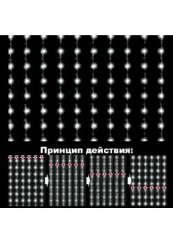 Светодиодный занавес Водопад 720LED СЗ-1