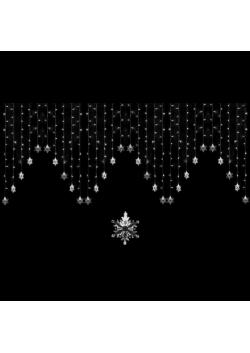 Светодиодный занавес со снежинками 330LED СЗ-2
