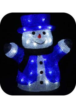 "3D-LED Фигура ""Снеговик в цилиндре"", 30 см"