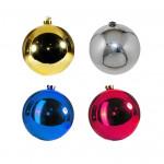 Новогодние шары глянцевые однотонные на ёлку