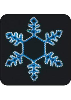 """LED-фигура """"Снежинка сине-белая, большая"""" с контроллером НО-132"""