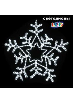 "LED-фигура ""Снежинка бело-белая"" с контроллером НО-135"