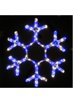LED-фигура Снежинка синяя с контроллером НО-136
