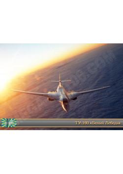 "Постер Ту-160 ""Белый Лебель"" ПЛ-150"