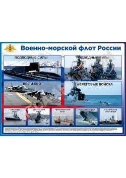 """Стенд """"Военно-морской флот России"""" СТ-110"""