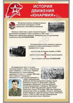"""Стенд """"История движения Юнармия"""" СТ-118"""