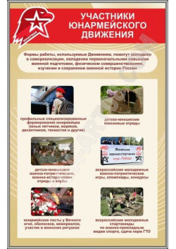 "Стенд ""Участники армейского движения"" СТ-120"