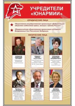 """Стенд """"Учредители Юнармия"""" СТ-121"""
