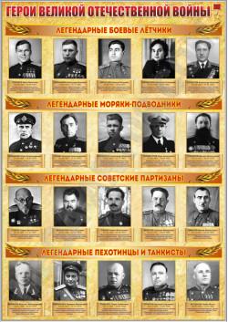 """Стенд """"Герои ВОВ"""" СТ-135"""