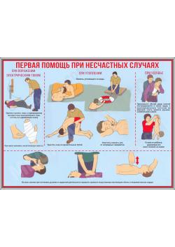 """Стенд """"Первая помощь при несчастных случаях"""" СТ-137"""