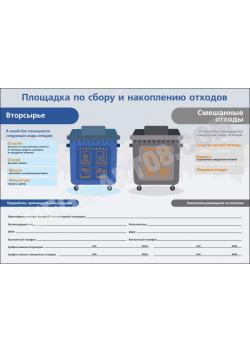 Табличка «Площадка по сбору и накоплению отходов»